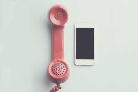 Oud en nieuwe telefoon